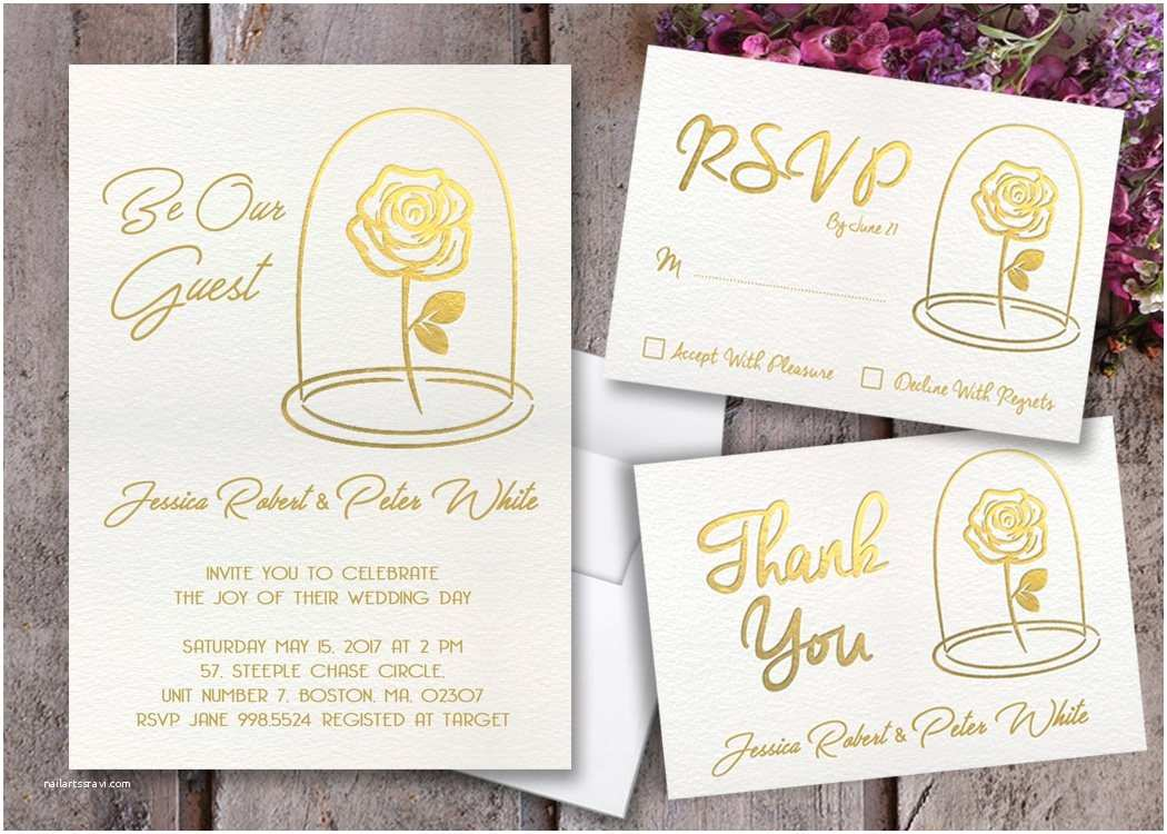 Beauty and the Beast Inspired Wedding Invitations Beauty and the Beast Wedding Invitations Beauty and the