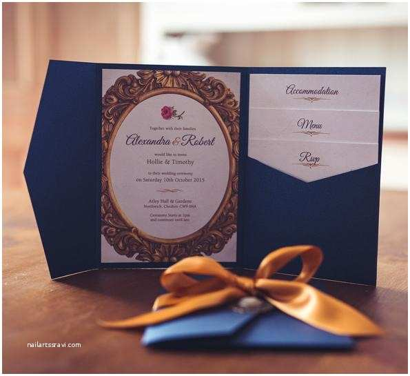 Beauty and the Beast Inspired Wedding Invitations Gorgeous Invites