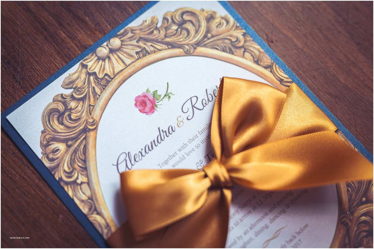 Beauty and the Beast Inspired Wedding Invitations Invitation Inspired by Beauty and the Beast Fairytale