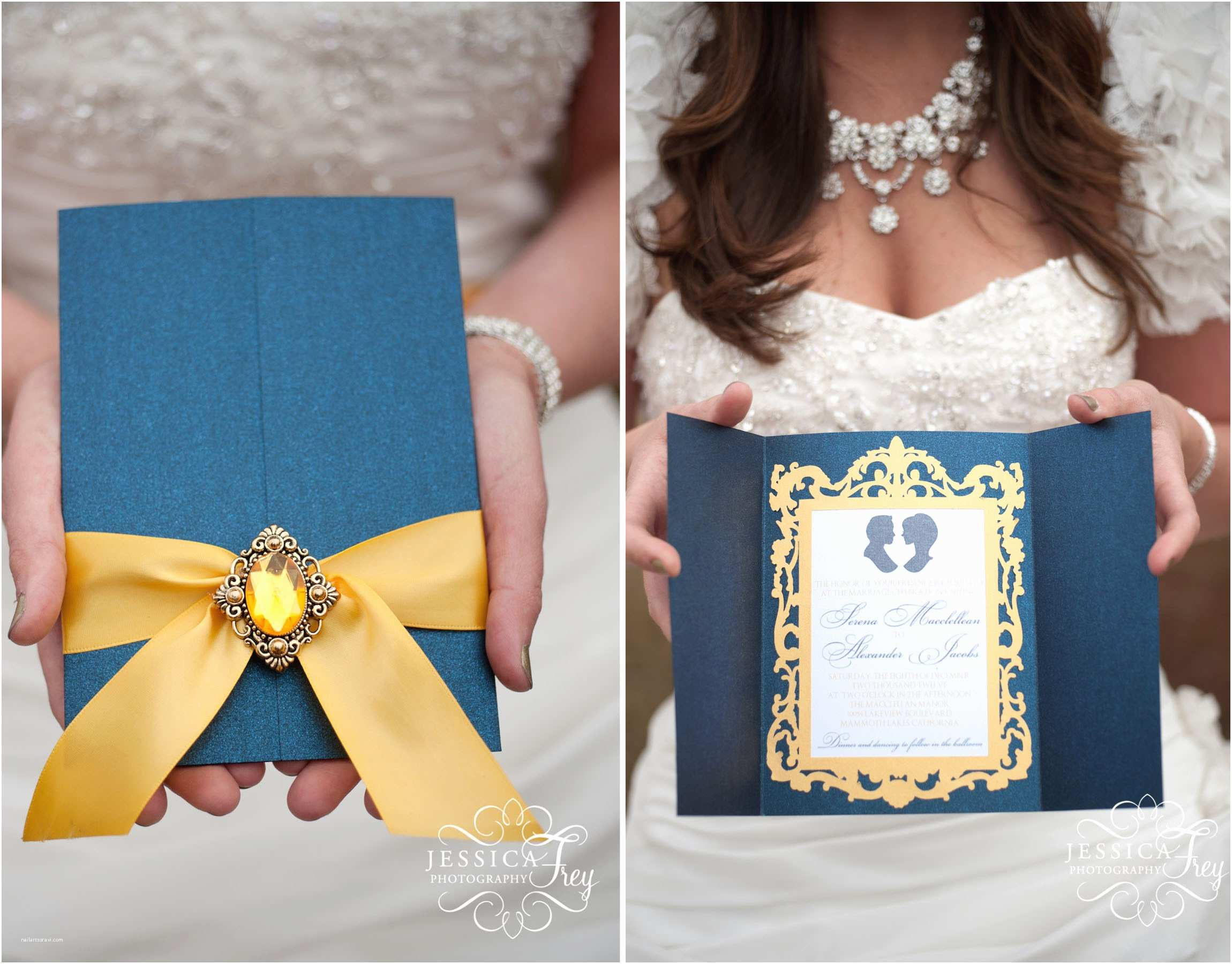 Beauty and the Beast Inspired Wedding Invitations Navy & Yellow Wedding – Inspired by Beauty & the Beast