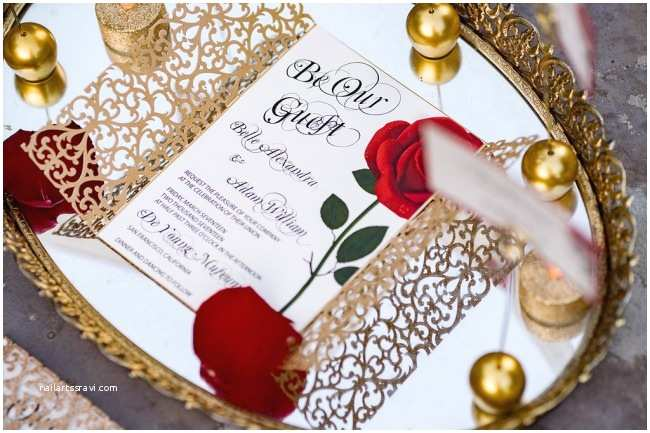 Beauty and the Beast Inspired Wedding Invitations top 5 Beauty and the Beast Wedding Invitations Be Our Guest