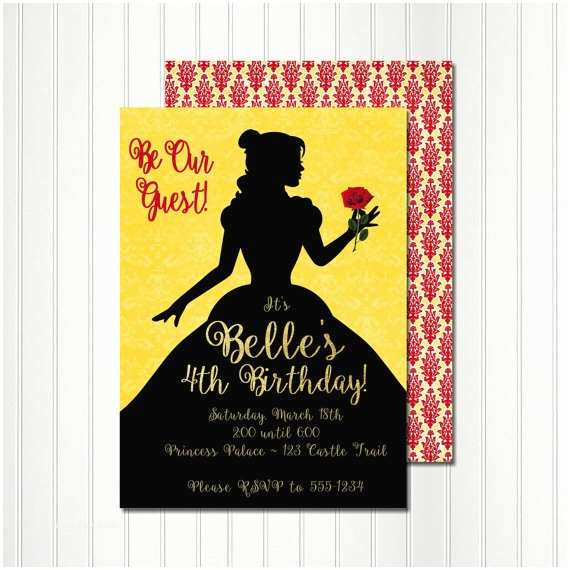 Beauty and the Beast Party Invitations 12 Amazing Beauty and the Beast Party Supplies