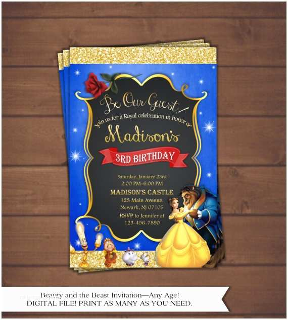 Beauty And The Beast Party Invitations