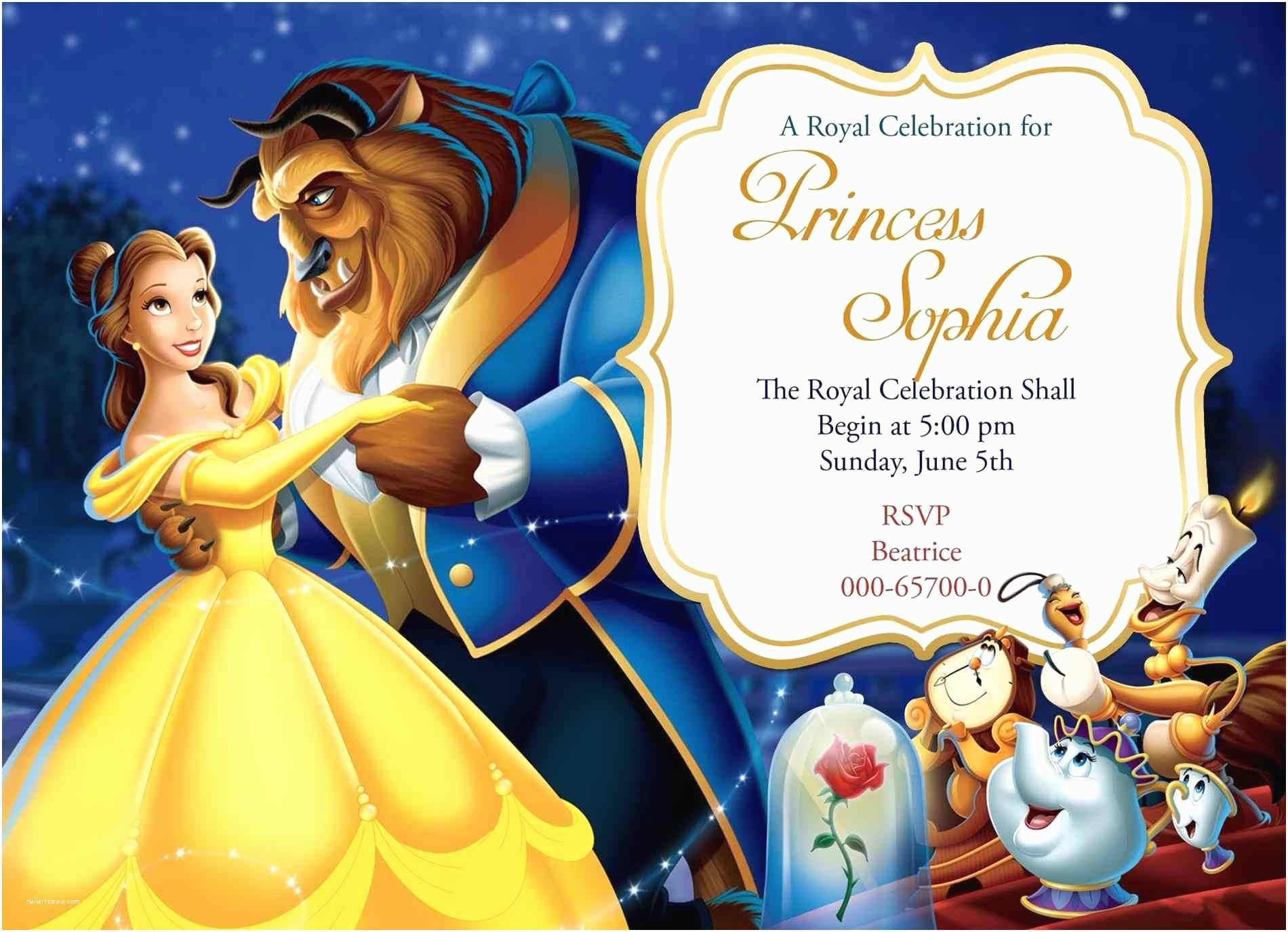 Beauty and the Beast Party Invitations Beauty and the Beast Invitation Background Siudy