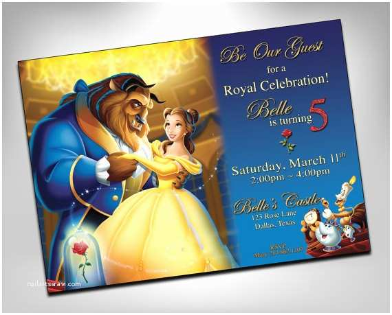 Beauty and the Beast Party Invitations Beauty and the Beast Invitation Beauty and the Beast