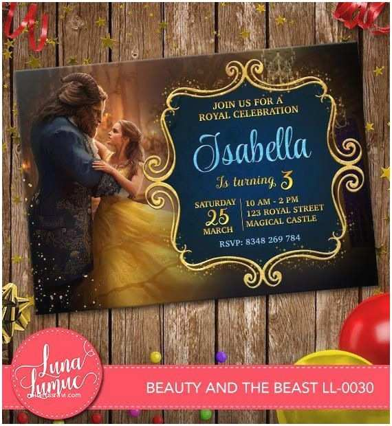 Beauty and the Beast Party Invitations Beauty and the Beast Invitation Belle Party Invite