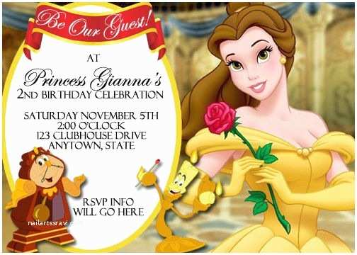 Beauty and the Beast Party Invitations Beauty and the Beast Invitation Digital File 4x6 or 5x7