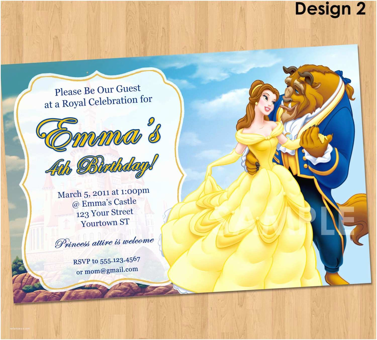picture about Free Printable Beauty and the Beast Birthday Invitations titled Elegance and the Beast Celebration Invites Totally free Attractiveness and the