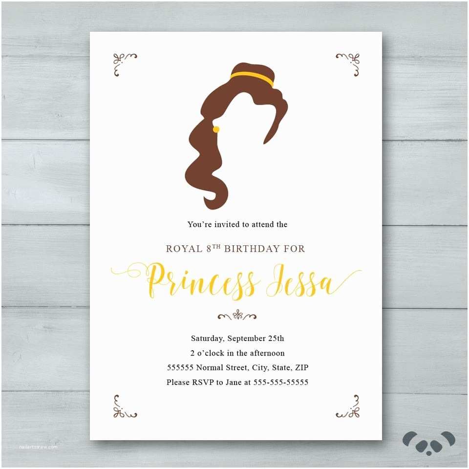 Beauty and the Beast Party Invitations Beauty and the Beast Party Invitations