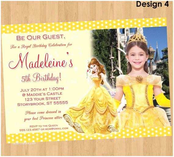Beauty and the Beast Party Invitations Princess Belle Invitation Beauty and the Beast
