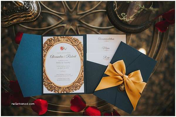 Beauty and the Beast Wedding Invitations 25 Enchanting Wedding Ideas Inspired by Beauty and the