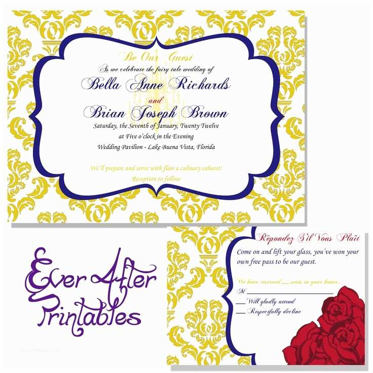 Beauty and the Beast Wedding Invitations 76 Best Ideas About Dream Disney Wedding On Pinterest