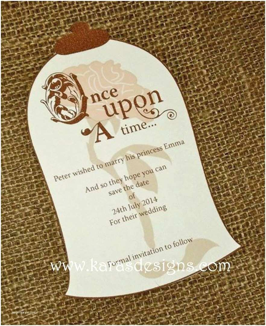 Beauty and the Beast Wedding Invitations Beautiful Beauty and the Beast Inspired Invite for
