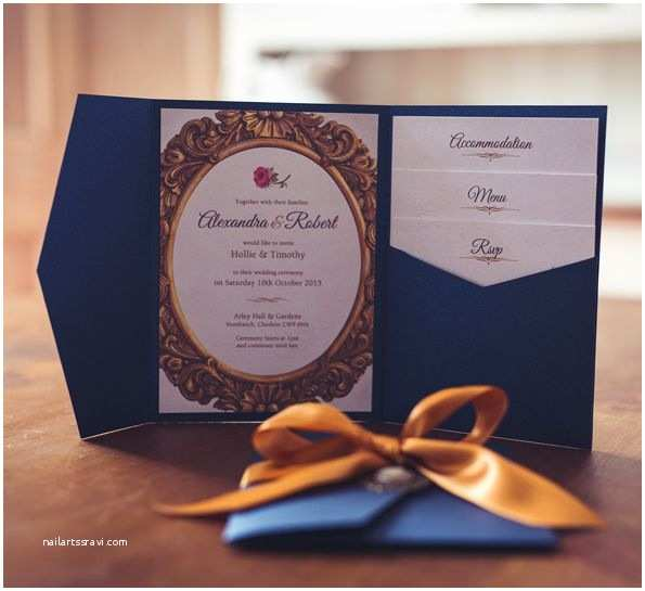 Beauty and the Beast Wedding Invitations Beauty and the Beast themed Wedding Invitation Luxury