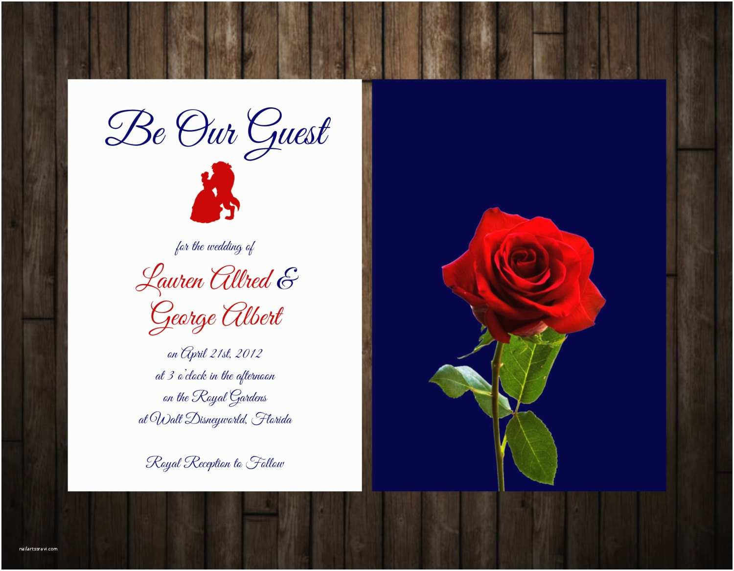 Beauty and the Beast Wedding Invitations Beauty and the Beast Wedding Invitation by Stationerybylaly