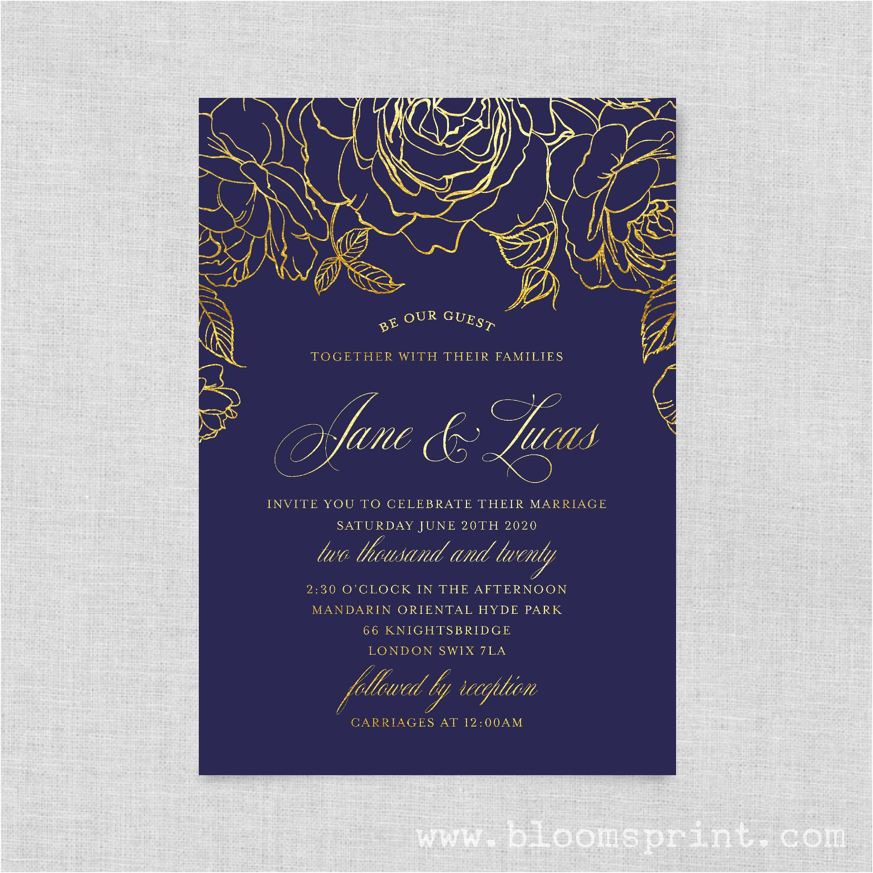 Beauty and the Beast Wedding Invitations Wedding Invitation Template Simple Wedding Invitation