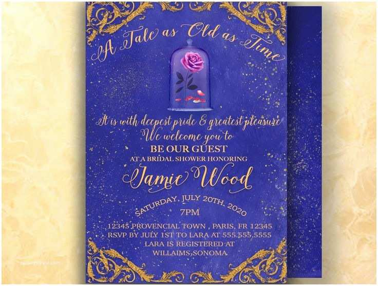 Beauty and the Beast Wedding Shower Invitations 54 Best Bridal Shower and Bachelorette Party Invitations