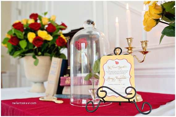 Beauty and the Beast Wedding Shower Invitations Belle or Beauty and the Beast Bridal Shower by