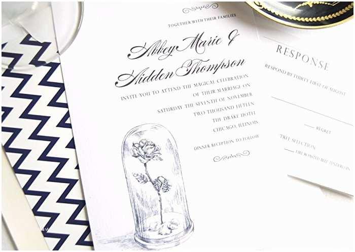 Beauty and the Beast Wedding Shower Invitations Wedding Invitation Templates Beauty and the Beast Wedding