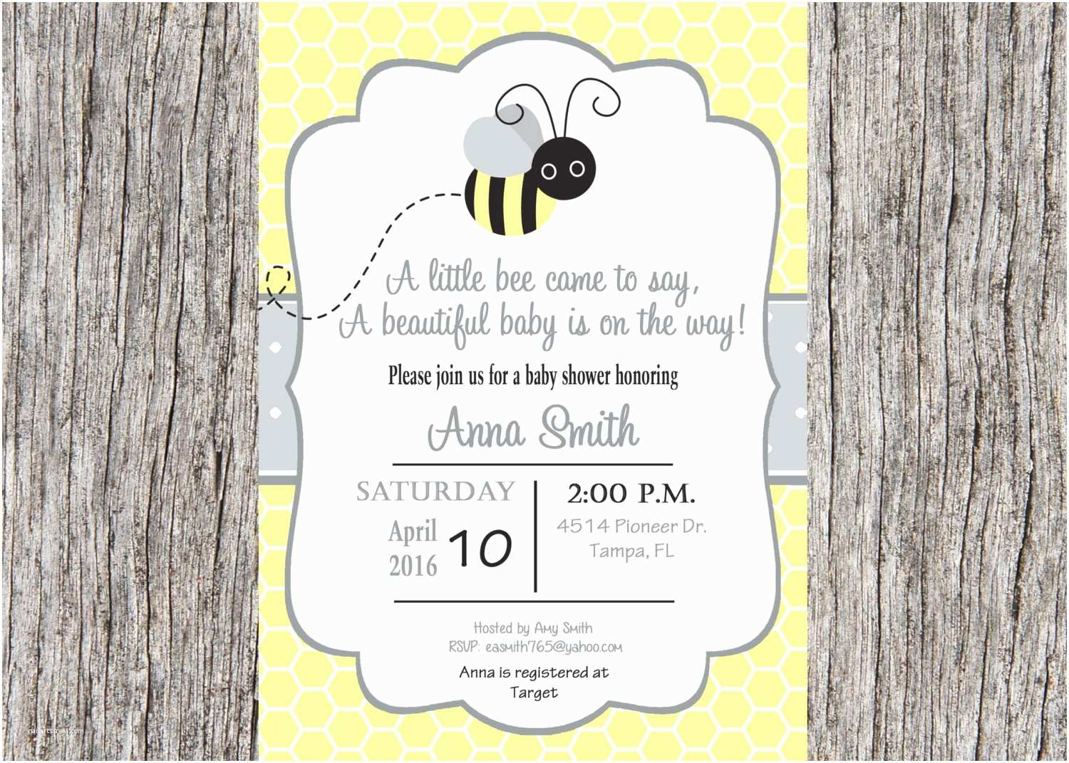 Bee Baby Shower Invitations Bee Baby Shower Invitation Bumble Bee Baby Shower Invitation