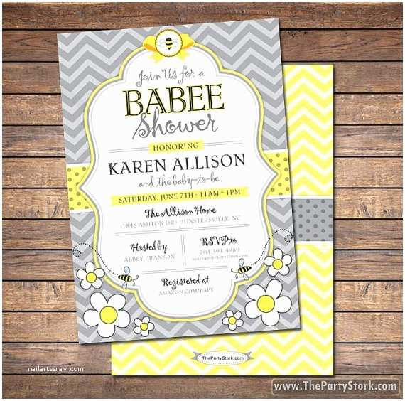 Bee Baby Shower Invitations Bee Baby Shower Invitation Printable Mommy to Bee by