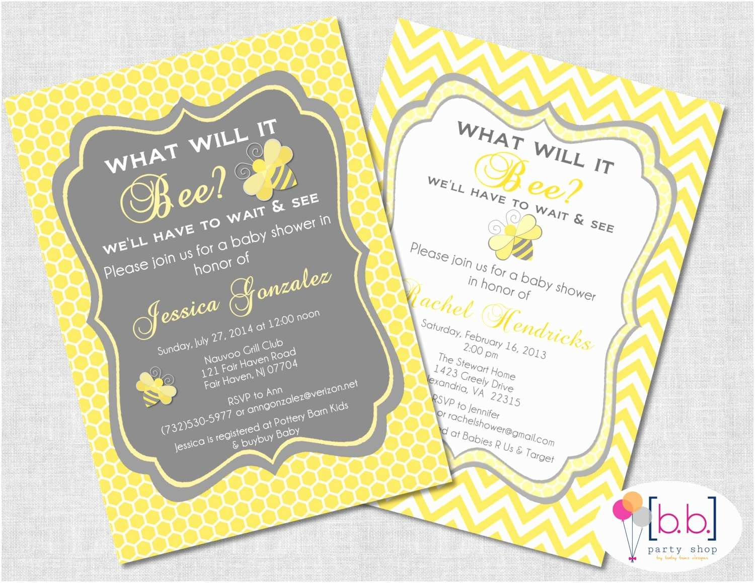 Bee Baby Shower Invitations Bee What Will It Bee Baby Shower or Gender Reveal Invitation