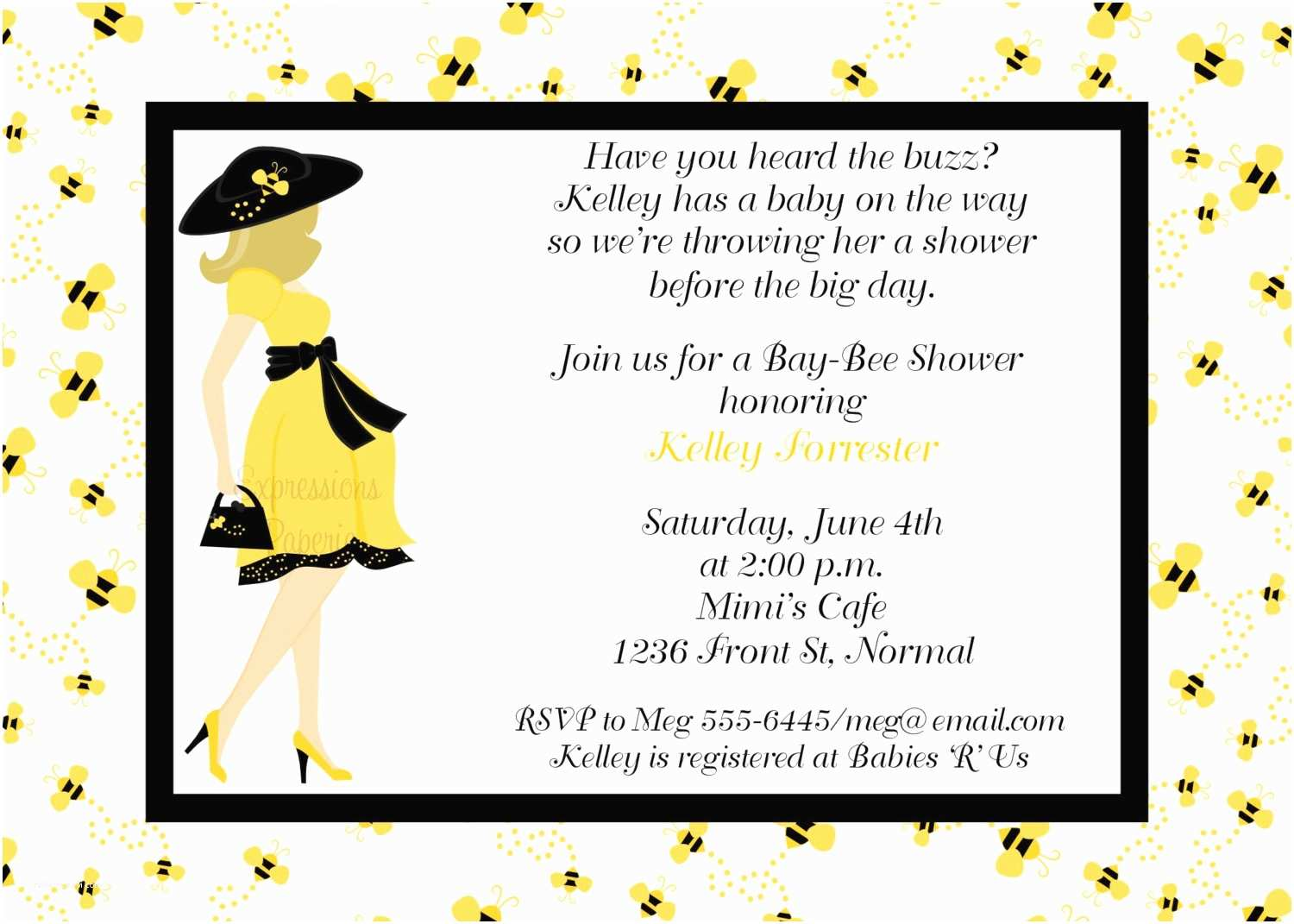 Bee Baby Shower Invitations Mommy to Bee Baby Shower Invitations Printable