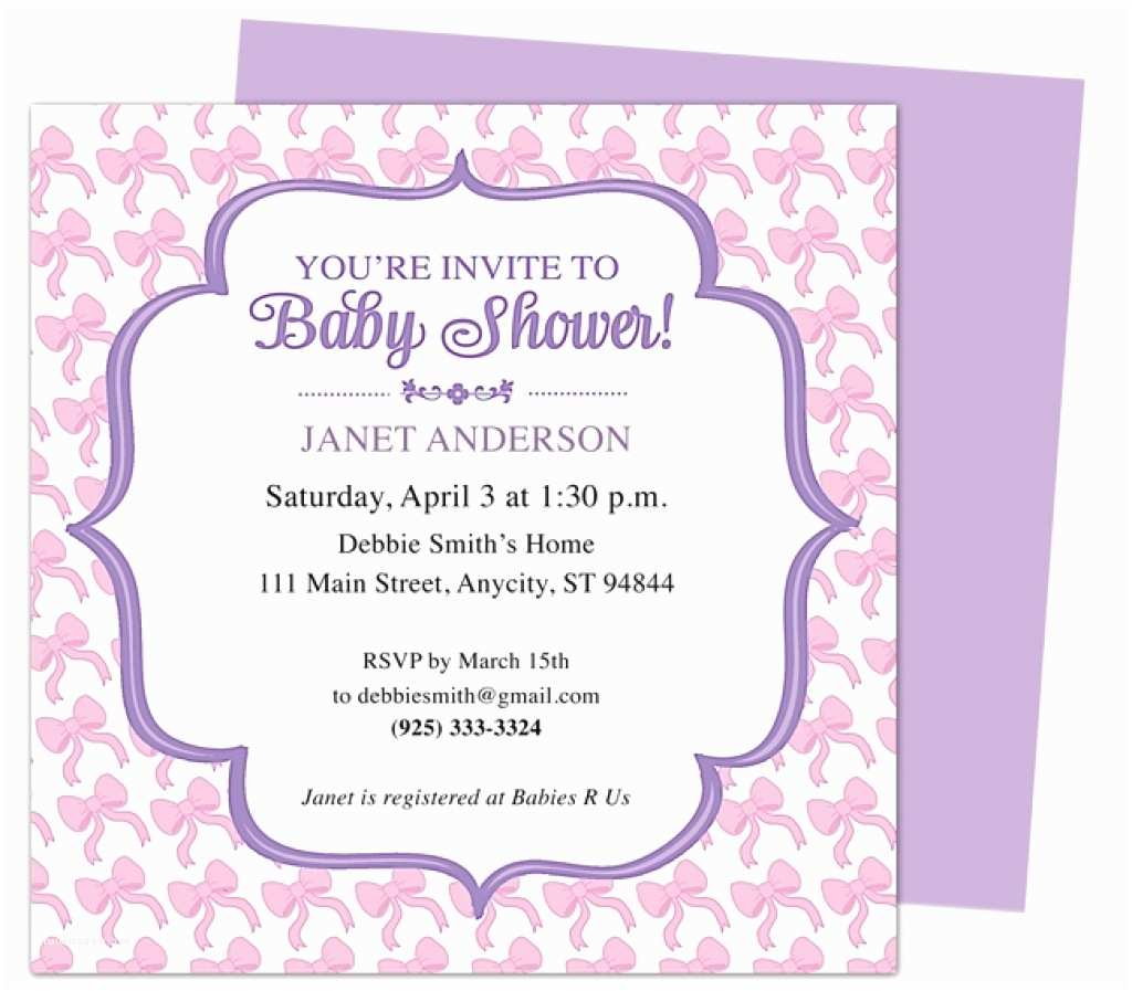 Best Baby Shower Invitations Email Baby Shower Invitations Template Resume Builder