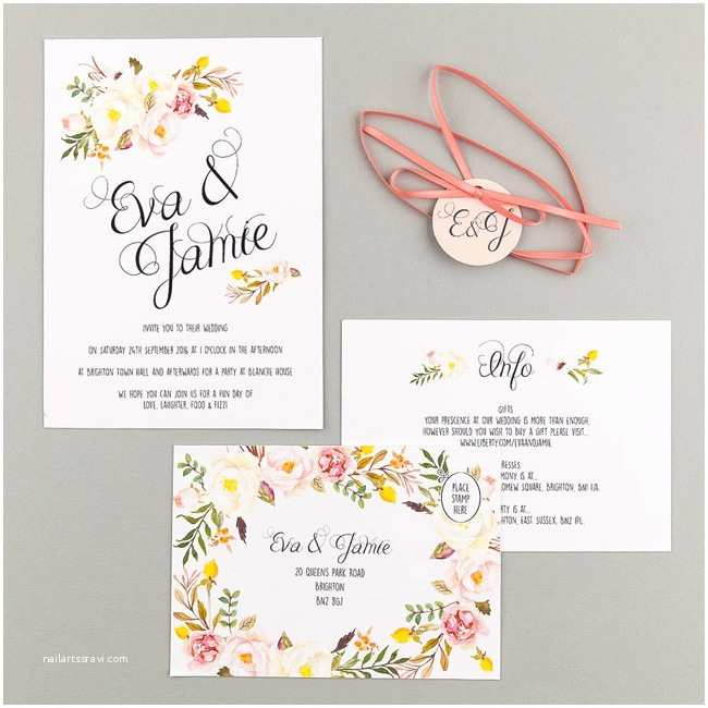 Best Place for Wedding Invitations 20 Of the Loveliest Illustrated Wedding Invitations From