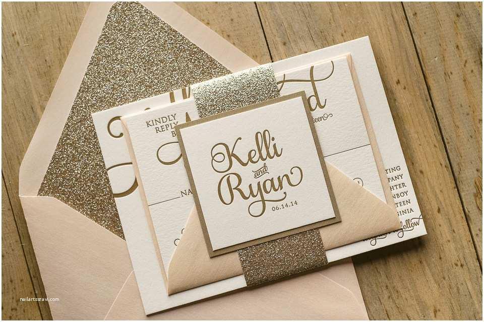 Best Place for Wedding Invitations Blush and Gold Wedding Invitations Kinderhooktap