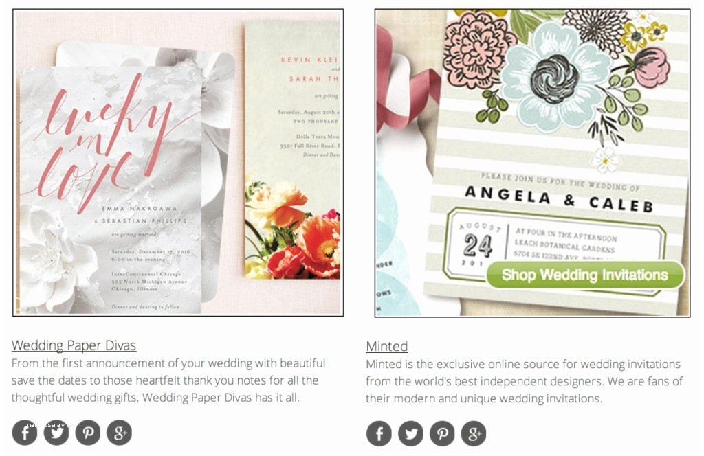 Best Wedding Invitation Sites Team Wedding Blog top 10 Wedding Invitation Websites