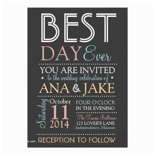 Best Wedding Invitations Ever Best Day Ever Wedding Invitation Colorful Edition Card