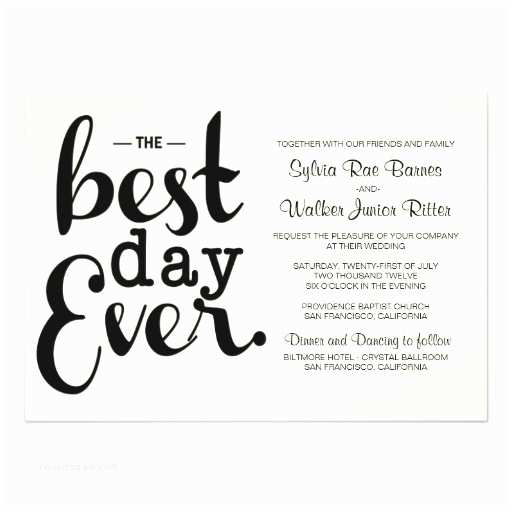 Best Wedding Invitations Ever Ivory Best Day Ever Wedding Invitation