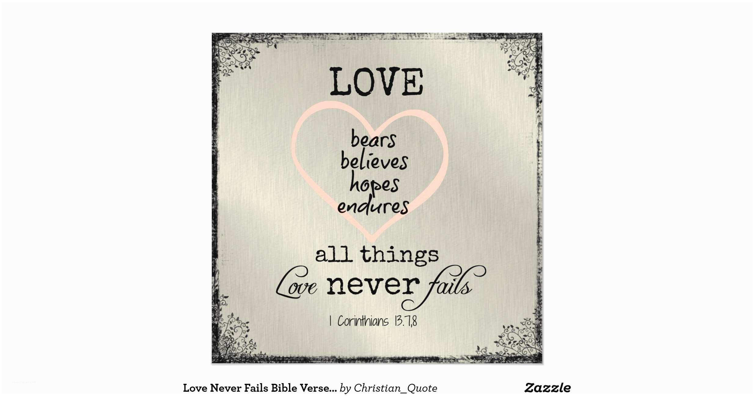 Bible Verses For Wedding  Love Never Fails Bible Verse Wedding