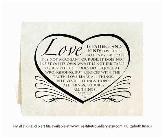 Bible Verses For Wedding Invitation Wedding Card Program Invitation Love Is Patient