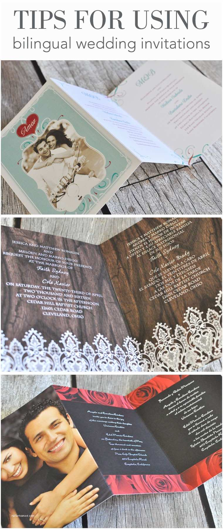 Bilingual Wedding Invitations Bilingual Invitations