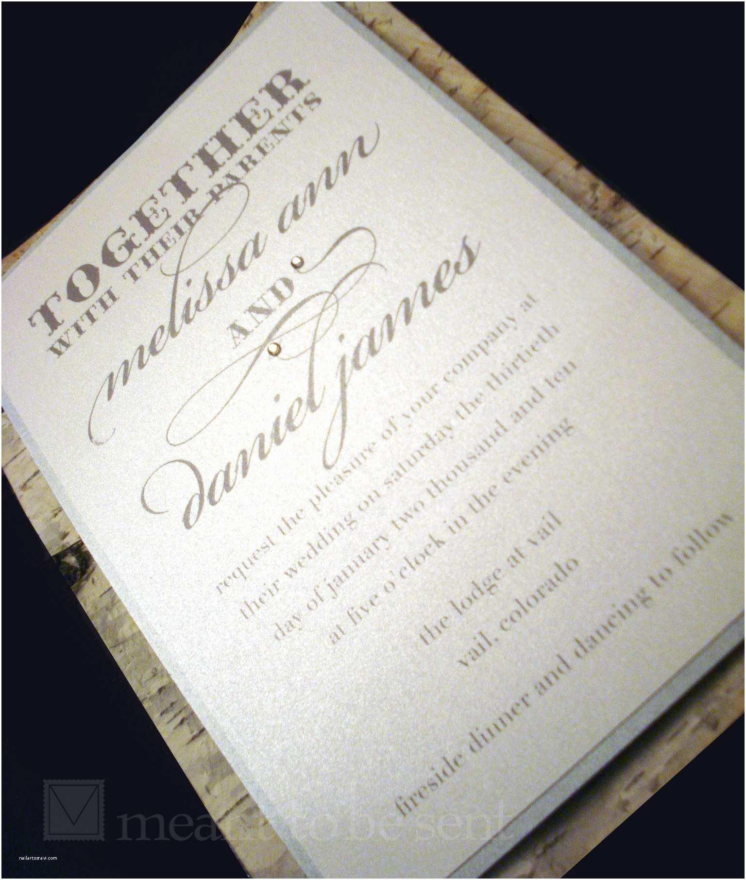 Birch Wedding Invitations Custom Invitations