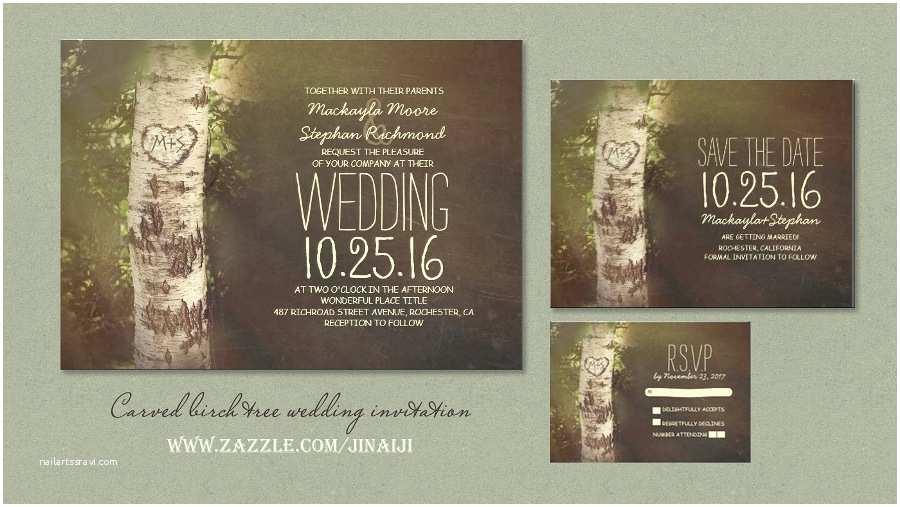 Birch Wedding Invitations Read More – Rustic Birch Tree Country Vintage Wedding