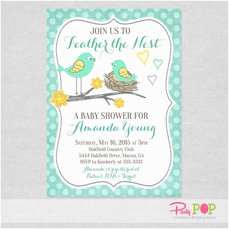 Bird Baby Shower Invitations Baby Shower Bird Invitations