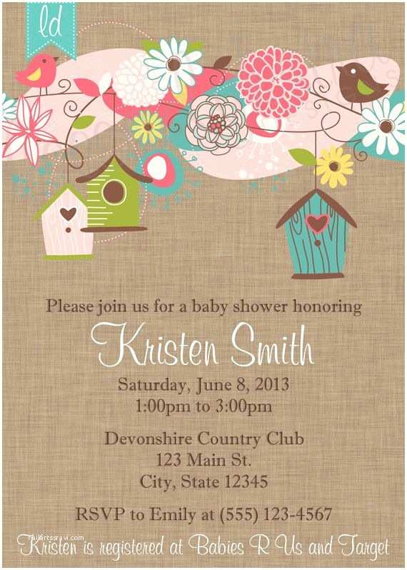 baby shower bird invitations