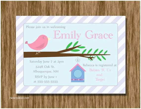 Bird Baby Shower Invitations Bird Baby Shower Invitation Printable