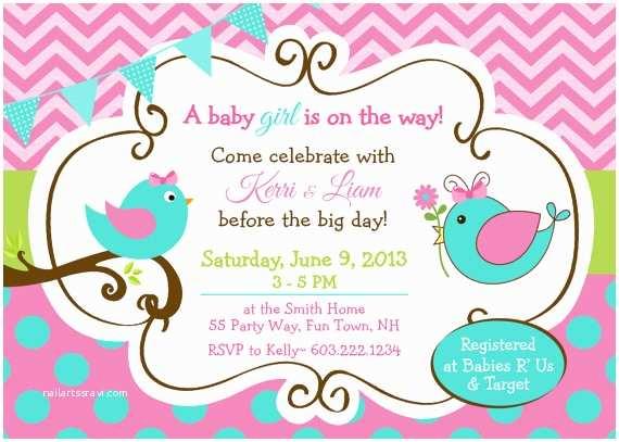 Bird Baby Shower Invitations Bird Baby Shower Invitations