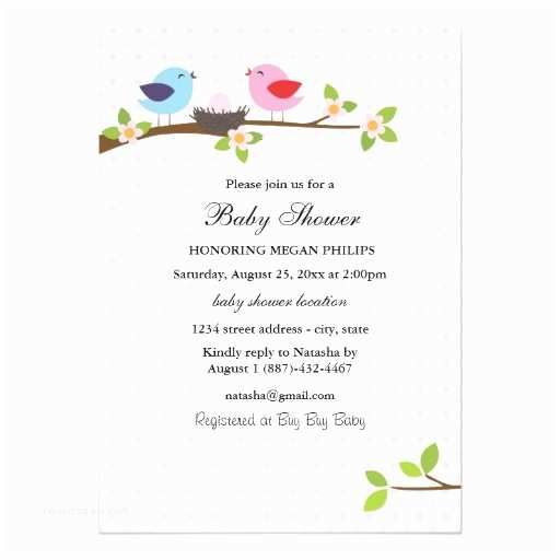 Bird Baby Shower Invitations Bird Family Baby Shower Invitation