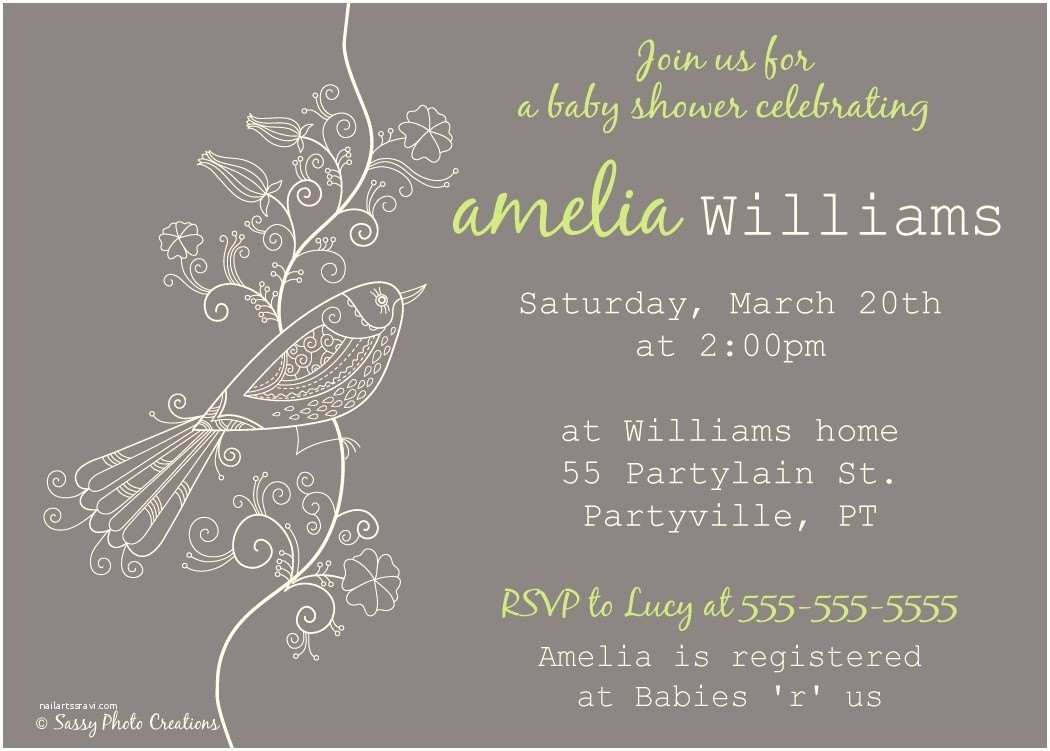 Bird Baby Shower Invitations Elegant Bird Baby Shower Invitation Diy Printable
