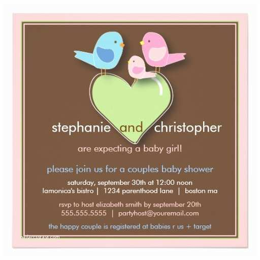 Bird Baby Shower Invitations Sweet Bird Family Couples Baby Shower Invitation