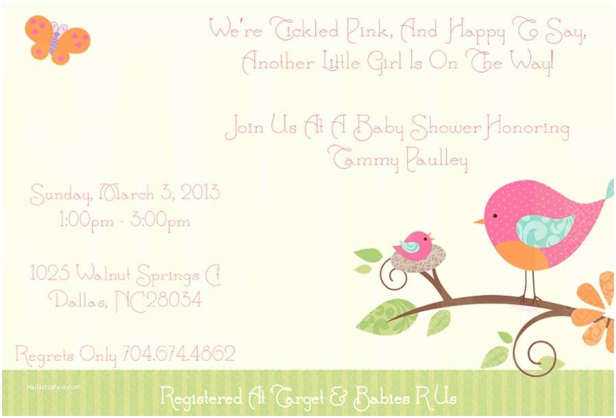 Bird Baby Shower Invitations Tweet Baby Shower Invitations Party Xyz