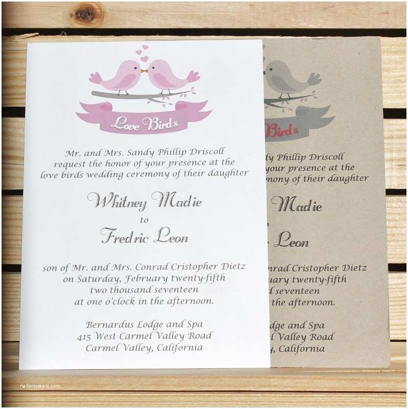 Bird Wedding Invitations 10 Affordable Rustic Valentine S Day Wedding Invitations