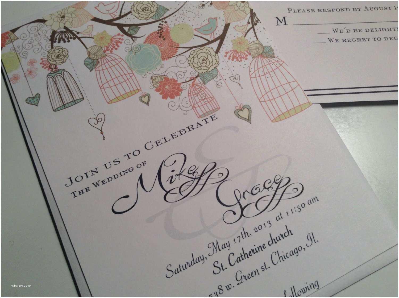 Bird Wedding Invitations 100 Wedding Invitations Invites Bird Cages Invitations