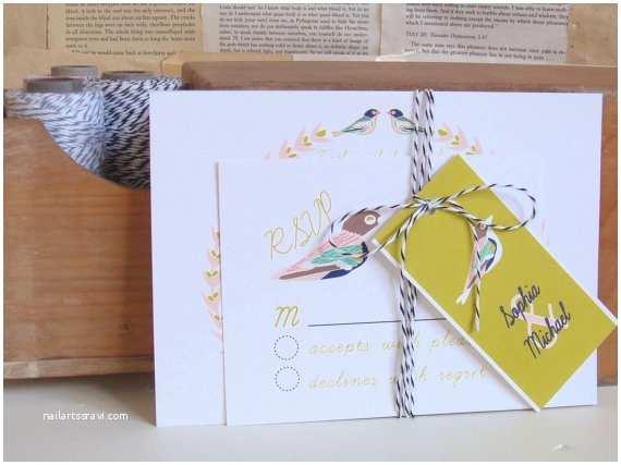 Bird Wedding Invitations Bird themed Wedding Handmade Wedding