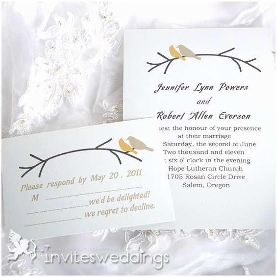 Bird Wedding Invitations Birds Branches Wedding Invitation Iwi051 Wedding